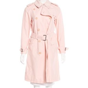 BURBERRY LONDON Belted Pale Pink Trench Coat
